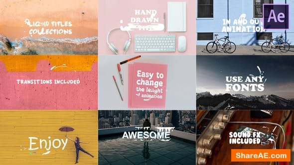 Videohive Liquid Titles Collection | After Effects Template