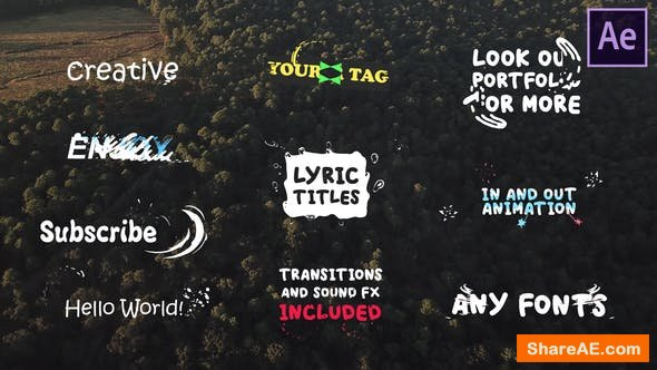 Videohive Lyric Titles | After Effects Template