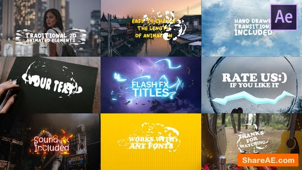 Videohive Cartoon Lyric Titles | After Effects Template Free