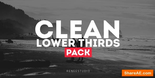 Videohive Clean Lower Thirds Pack