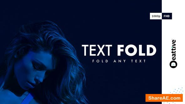 Videohive Text Fold
