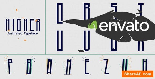 Videohive Higher Animated Typeface