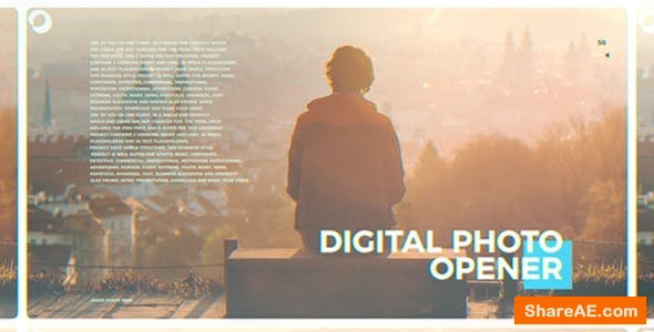 Videohive Digital Photo Opener