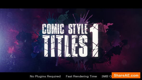 Videohive Comic Style Title
