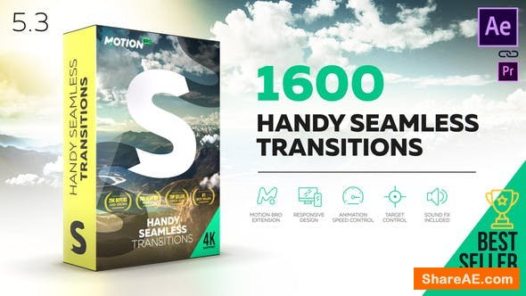 Videohive Handy Seamless Transitions | Pack & Script V5.3 [Cracked]