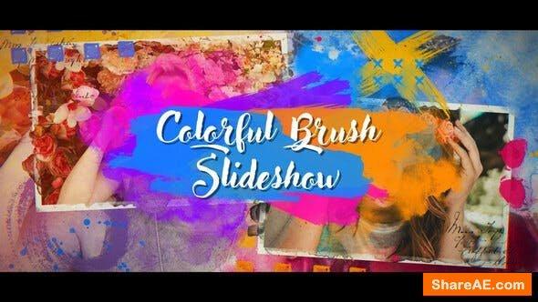 Videohive Colorful Brush Slideshow