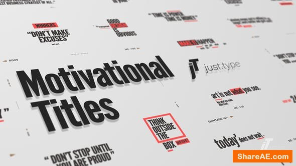Videohive Just Type | Motivational Titles