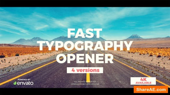 Videohive Fast Typograhy Opener