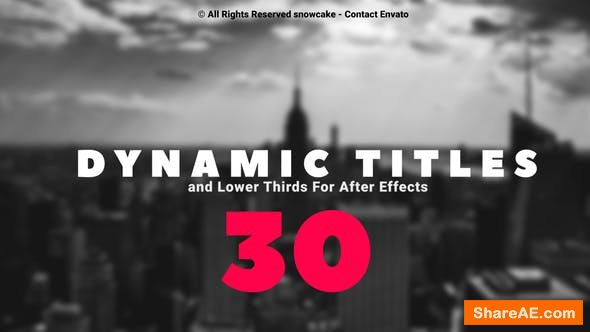 Videohive Dynamic Titles and Lower Thirds 23918291