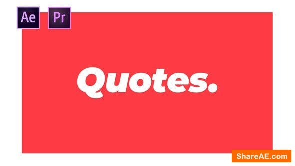 Videohive Quotes