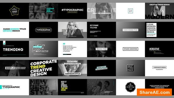 Videohive Trending Titles