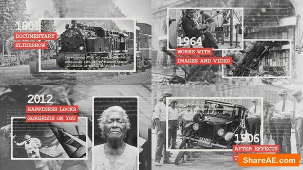 Videohive Documentary Slideshow