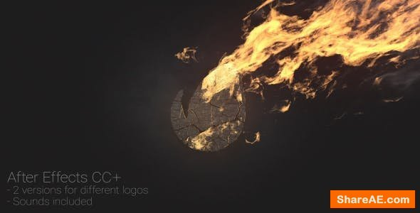 Videohive Logo at Fire