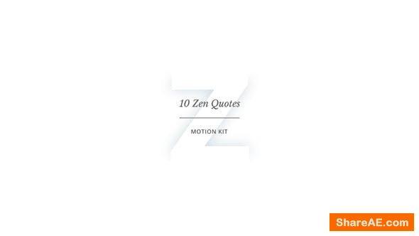 Videohive 10 Zen Quotes