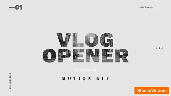 Videohive Vlog Opener