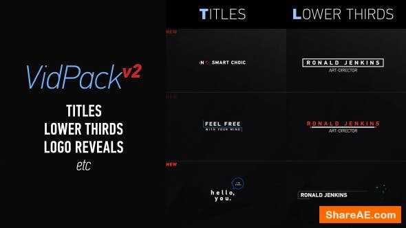 100+ Universal Video Elements Pack - Videohive