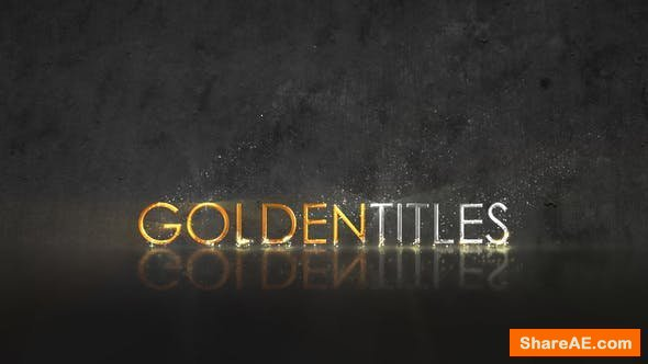 Videohive Golden Titles 22407830