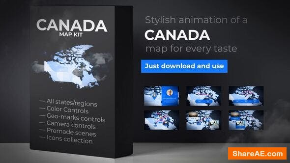 Videohive Canada Map - Canadian Map Kit