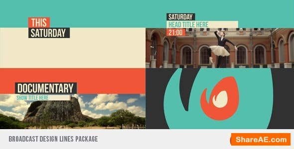 Videohive Broadcast Design Lines Package