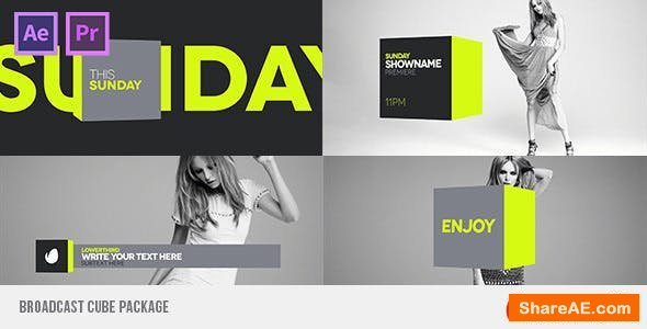 Videohive Broadcast Cube Package
