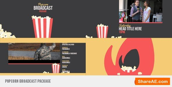 Videohive Popcorn Broadcast Package