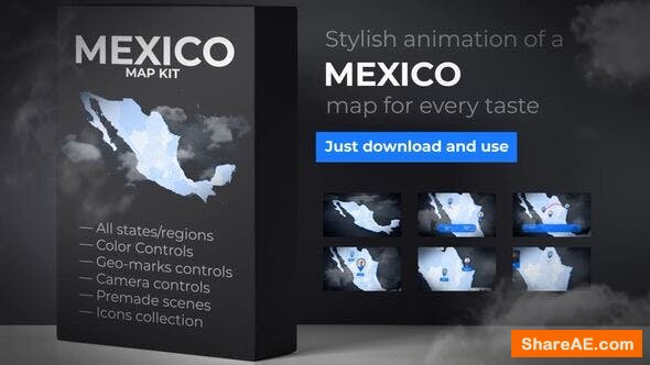 Videohive Mexico Map - United Mexican States Map Kit