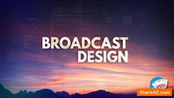 Videohive Technology Typography - Broadcast Intro