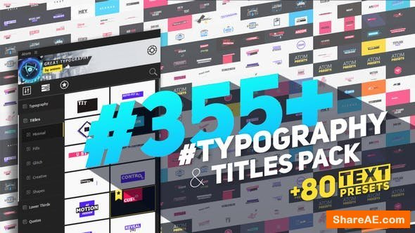 Videohive Big Pack of Typography   Atom
