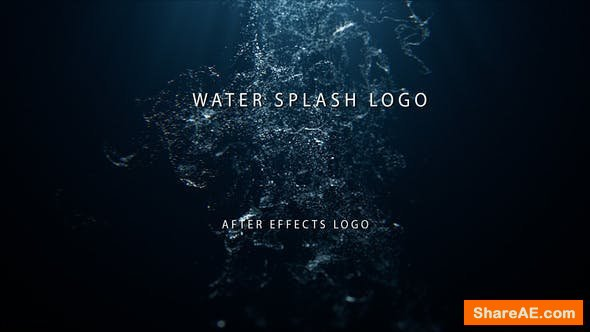 Videohive Water Splash Logo 24036379