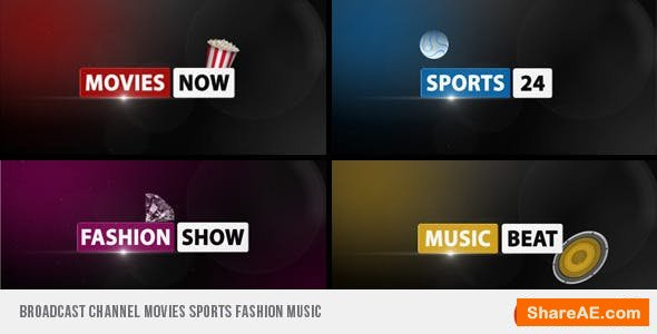 Videohive Broadcast Channel Movies Sports Fashion Music