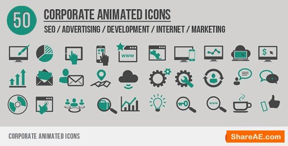 Videohive Corporate Animated Icons