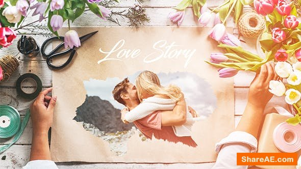 Videohive Love Story Slideshow