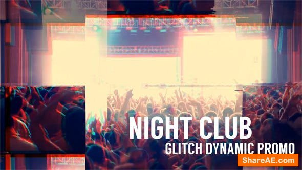 Videohive Night Club - Glitch Dynamic Promo