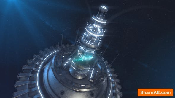 Videohive Space Station Core Logo Reveal