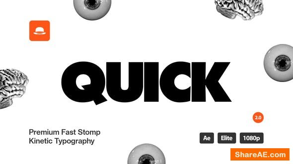 Videohive Stomp Titles - Kinetic Typography