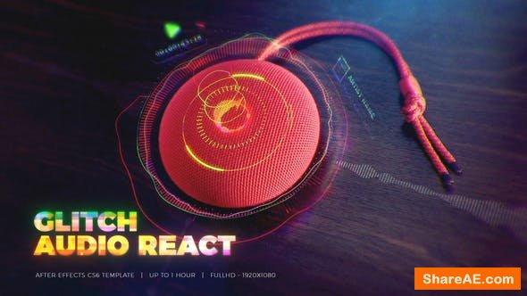 Videohive Glitch Audio React