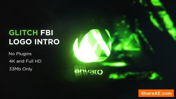 Videohive  Glitch FBI Logo Intro