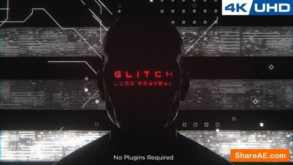 Videohive Glitchy Human Logo Reveal