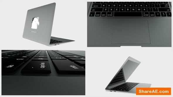 Videohive Laptop - Logo Reveal