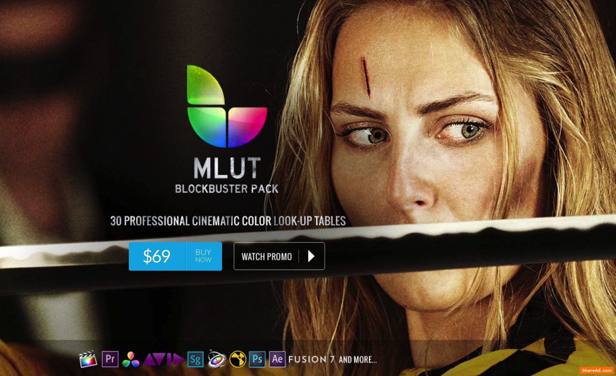 mLUT Blockbuster Pack - 30 Professional Cinematic Color Look-Up Tables - MotionVFX