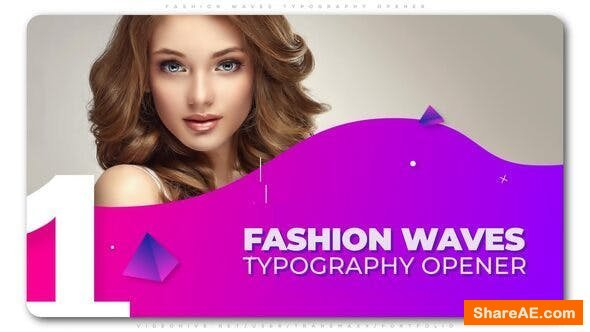 Videohive Fashion Waves Typography Opener