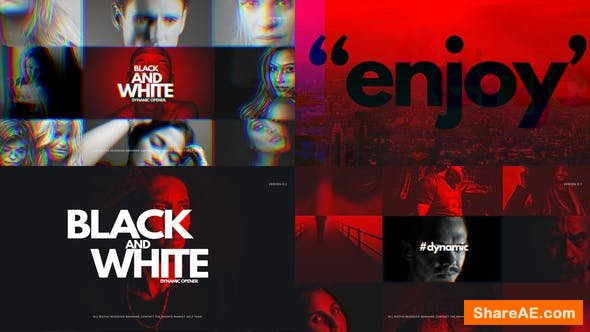 Videohive Black And White Dynamic Opener