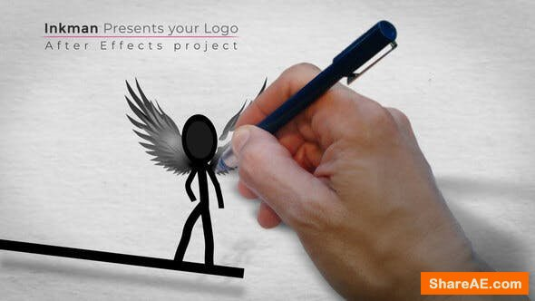 Videohive Inkman presents your logo (AE project)