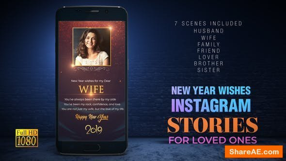 Videohive New Year wishes for Loved Ones I Instagram Stories
