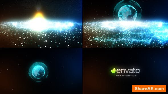 Videohive Particle Galaxy Logo