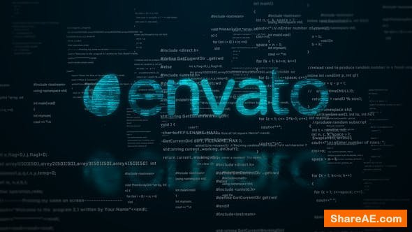 Videohive Digital Code Logo Reveal
