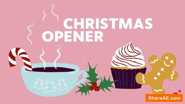 Videohive Illustrated Greeting // Christmas Opener
