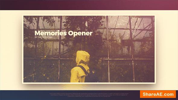 Videohive Memories Opener