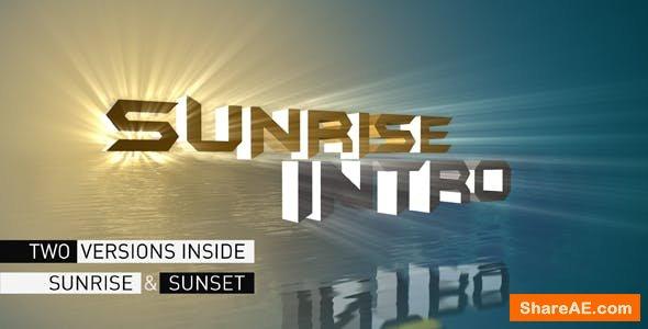 Videohive Sunrise Intro