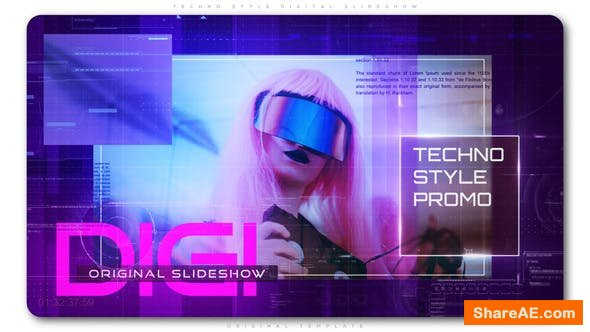 Videohive Techno Style Digital Slideshow